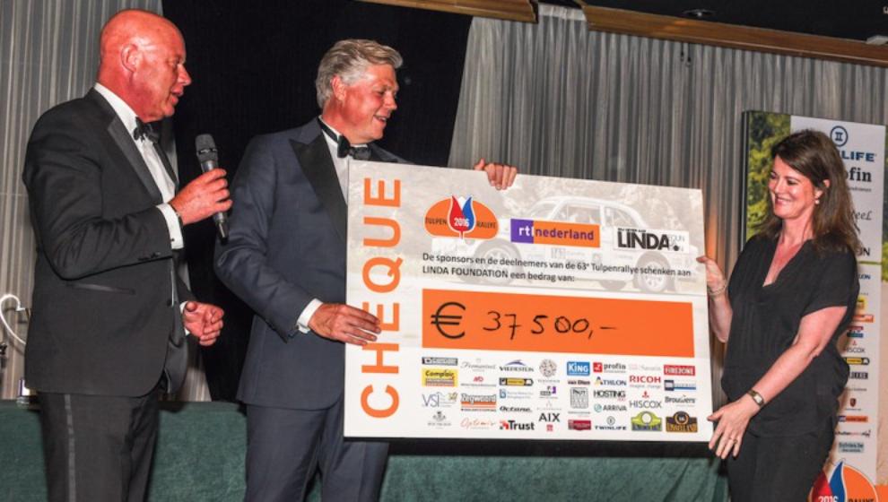 Tulpenrallye haalt 37.500 euro op voor de LINDA.foundation