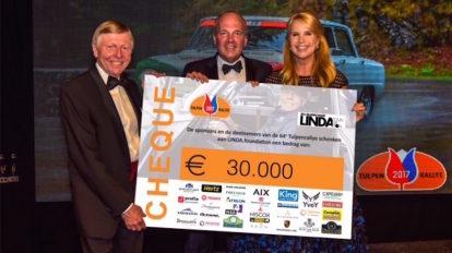 Linda de Mol ontvangt €30.000 voor de LINDA.foundation van Tulpenrallye