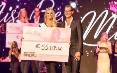 Miss Beauty of the Netherlands zorgt voor een gigantisch bedrag voor LINDA.foundation