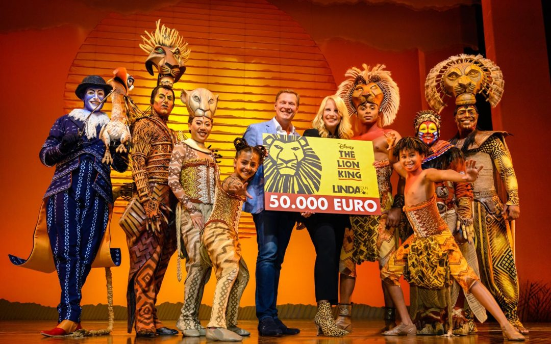 The Lion King viert tweede verjaardag en trakteert LINDA.foundation