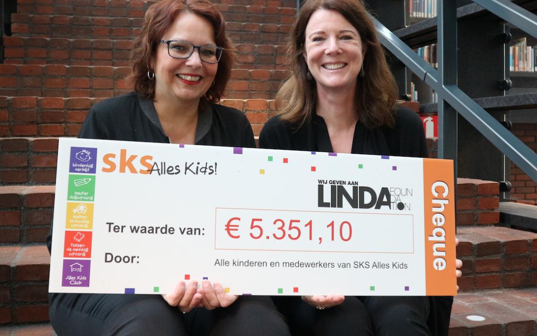 SKS Alles Kids haalt €5351,- op voor de LINDA.foundation