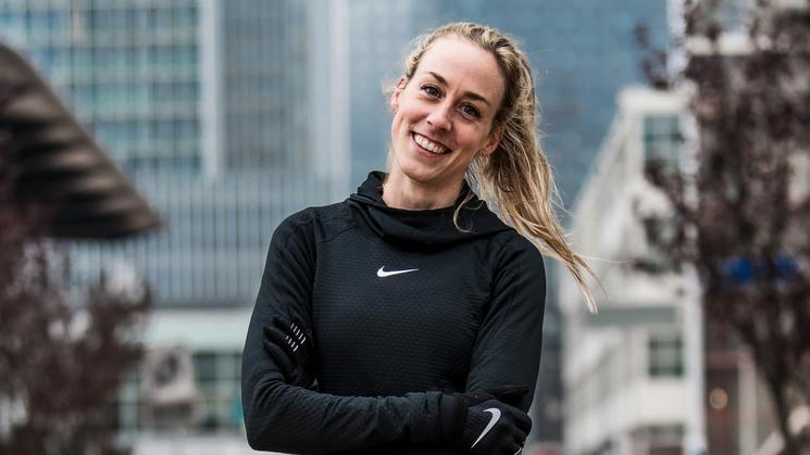 Olympisch atlete Susan Krumins rent NN-marathon Rotterdam voor LINDA.foundation