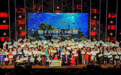 Nationale Postcode Loterij geeft recordbedrag weg tijdens Goed Geld Gala 2019