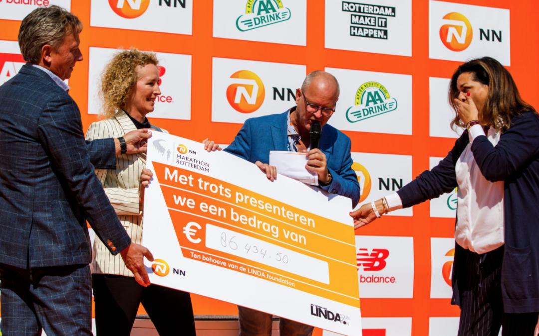 Minsten €86.340 voor LINDA.foundation tijdens 'NN Marathon Rotterdam'