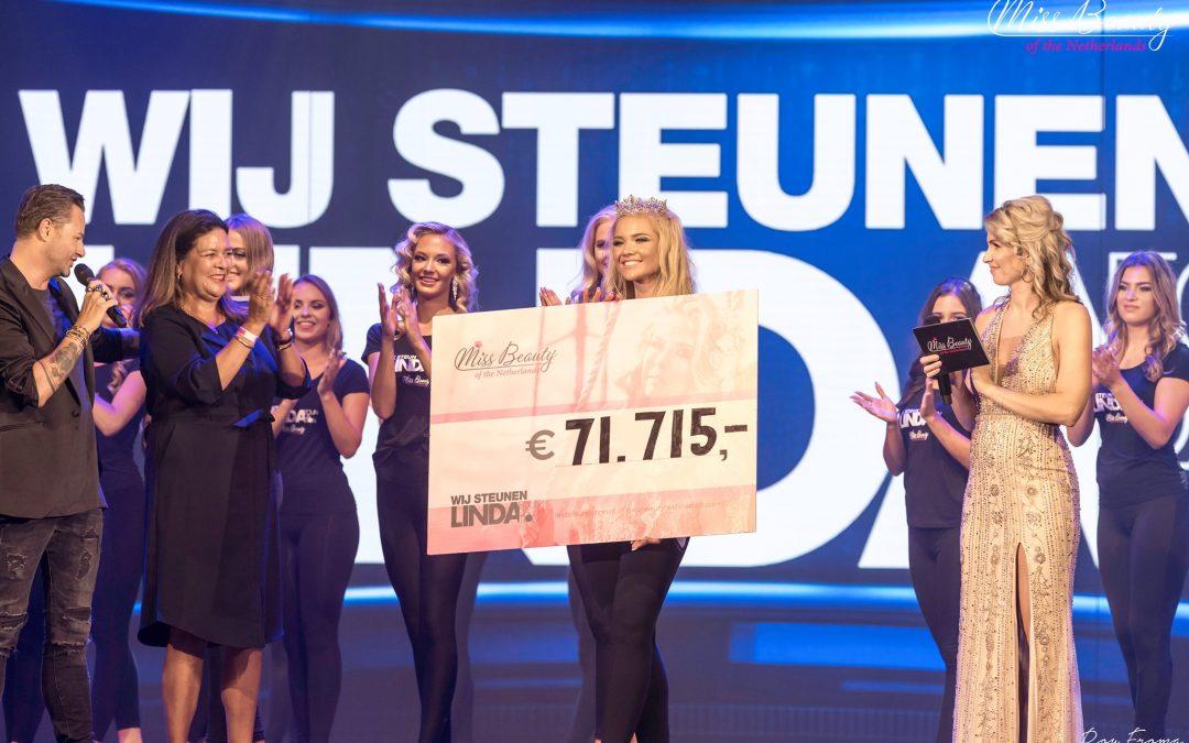 Miss Beauty of the Netherlands haalt opnieuw een recordbedrag op voor LINDA.foundation