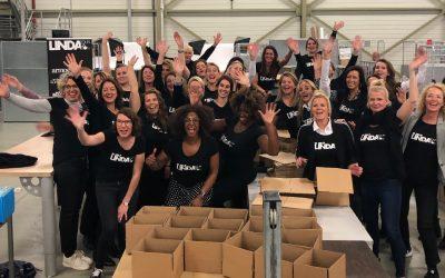 Inpakdag: LINDA.foundation verrast 4250 gezinnen met cadeaupakket