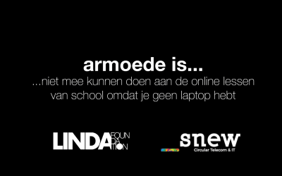 LINDA.foundation & SNEW starten laptop actie