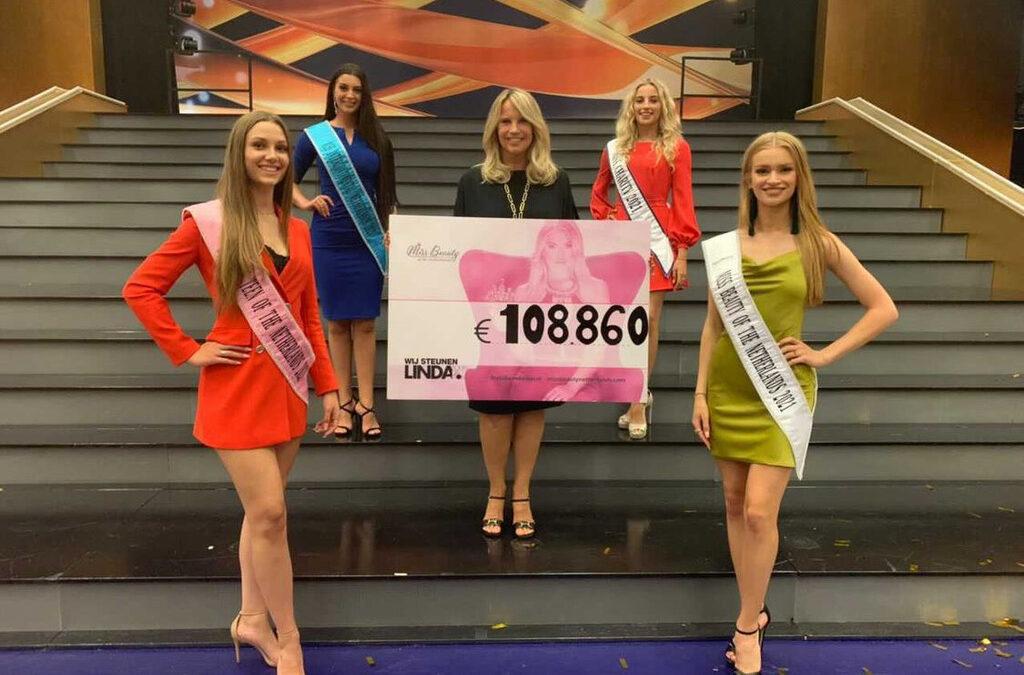 Miss Beauty of the Netherlands haalt recordbedrag op voor LINDA.foundation